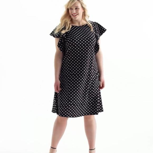 6397434beb59 Lane Bryant Dresses   Black And White Polka Dot Dress   Poshmark